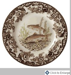 Woodland Dinner Plate 10.5 in. (Rainbow Trout)