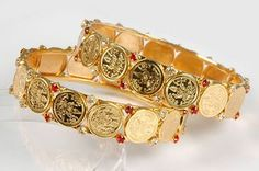 2_Lakshmi_Coin_Gold_Plated_Bangles_Bracelet...! #covaiweddingshoppers