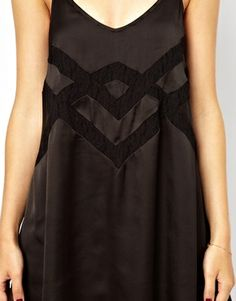 Image 3 ofJarlo Cami Swing Slip Dress with Lace Insert