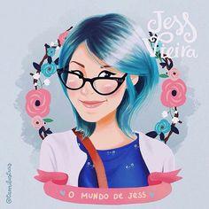 OMG! Virei uma ilustração linda em uma versão maravilhosa da @tamilustras ✨ Amei demais, ela é super talentosa, sigam a Tami e vejam mais trabalhos lindos  #omundodejess #illustration #jessilustrada