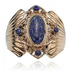 midnight skies cuff ($126) ❤ liked on Polyvore featuring jewelry, bracelets, lapis, antique gold jewelry, samantha wills, star bangled, cuff jewelry and polish jewelry