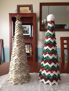 Looking for quilting project inspiration? Check out Quilted Christmas Trees by member lainieinjax. - via @Craftsy
