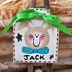 Personalized easter basket tag girls handpainted by countrytags personalized easter basket tag rustic easter basket label farmhouse basket name tag easter basket ideas negle Image collections