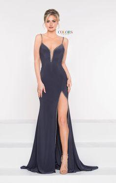 8c2204840b9 Colors Dress 1993 High Slit Jersey Gown