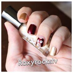 Fall Nails with little Owls ! Tutorial in English : http://youtu.be/9xyCBz6pFeA Tutorial in Italiano : http://youtu.be/KfHu8YBdDTk Tutorial en Español : http://youtu.be/9ymvhngBNp8
