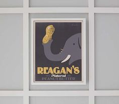 I love the Personalized Peanut Art by Alexander & Co on potterybarnkids.com