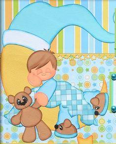 ELITE4U Premade Scrapbook Page Dream Boy Night Bed Made with Paper Piecings | eBay