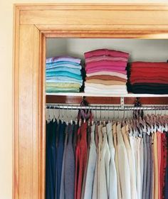 Color-Code Your Wardrobe | Closets can be the bane of your existence. Steal some ideas from those pictured here.