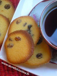 Tuiles aux raisins de Corinthe ou palets des dames.