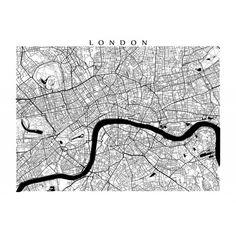 London Map - Black and White Wall Art, England Art Poster Wooden Wall Art Panels, London Map, London City, Black And White Wall Art, Black White, Tree Wall Art, Color Show, Colour, Printable Art