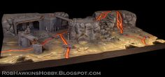 The other scenery board I made for  Fantasy Flight's  upcoming miniatures game Star Wars: Legion  was this Imperial mining facility, set am...