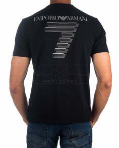 Black Armani Men T Shirt - Train Soccer Sport Outfits, Boy Outfits, Casual Outfits, Men Casual, Armani Men, Emporio Armani, Camiseta Armani Exchange, Online Clothing Stores, Street Wear