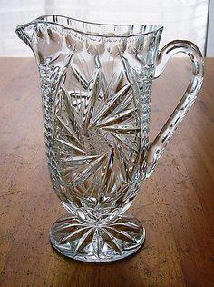 Džbán na vodu * ručně broušené sklo český křišťál, vzor větrník * Bohemia Crystal CZ.