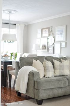 Home Tour: A young family house infuses modern farmhouse living with soothing neutrals and subtle pops of color for a warm and inviting home | A Burst of Beautiful