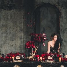 This shoot was inspired by the daring works of late British fashion designer Alexander McQueen.  I would love to have this whole thing as my reception decor.