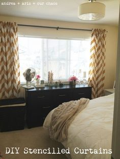DIY Stencilled Curtains | Part Two