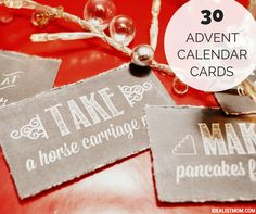 30 Holiday Activities for Your Advent Calendar
