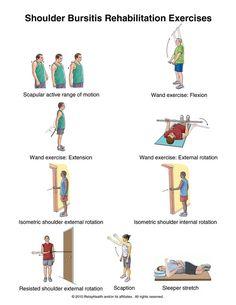 Shoulder Bursitis Exercises: Illustration