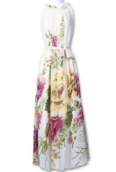 Floral Full-Length Dress