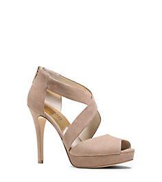 Ariel Suede Platform Sandal by Michael Kors