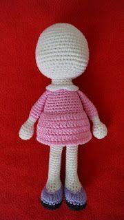 Crochet Dolls Clothes Amigurumi Little Doll-Free Pattern Doll Amigurumi Free Pattern, Crochet Dolls Free Patterns, Crochet Amigurumi, Amigurumi Doll, Crochet Toys, Crochet Animals, Crochet Doll Clothes, Knitted Dolls, Crochet Mignon