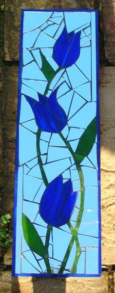 Tulip glass mosaic.