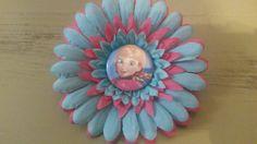 Frozen flower clip