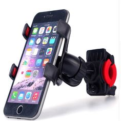 new black Universal 360 Degree Rotatable Bicycle Bike Phone Holder Clip Stand Mount Bracket stander