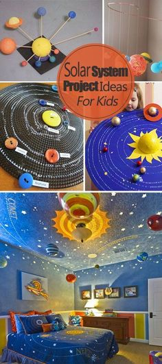 Solar System Project Ideas For Kids . Great ideas, projects and tutorials! Science Fair, Science For Kids, Science Activities, Science Projects, School Projects, Activities For Kids, Space Solar System, Solar System Model, Diy Solar System