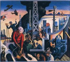 Changing West   Artist: Thomas Hart Benton  Completion Date: 1930  Style: Muralism  Series: America Today  Genre: genre painting
