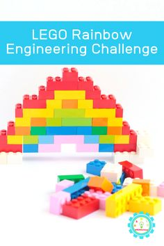 Have fun with LEGO STEM activities for kids, preschool age to teens. 35 awesome STEM activities to keep your child engaged and entertained. Rainbow Food, Rainbow Theme, Rainbow Crafts, September Activities, Classic Lego, Lego Challenge, Lego Activities, Cool Lego Creations, Projects For Kids
