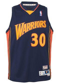 70de238b6b1 Stephen Curry Golden State Warriors NBA Youth Throwback 2009-10 Swingman  Jersey