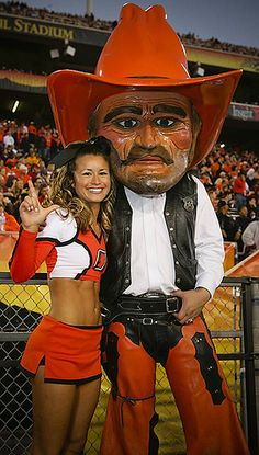oklahoma-state-cheerleader-mascot by imnatron, via Flickr