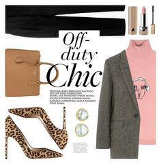"""Off-duty Chic"" by ivansyd ❤ liked on Polyvore featuring Acne Studios, Prada, Gianvito Rossi, Shrimps, Étoile Isabel Marant, Marc Jacobs, Pippa Small, Stila and animalprintshoes"