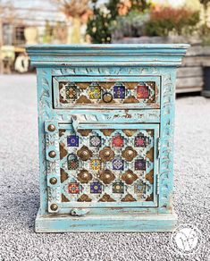 "Nachttisch | kleine Kommode ""Barisha"" Dresser, Decorative Boxes, Vintage, Antiques, Furniture, Home Decor, Small Dresser, Bedside Desk, Cabinet Drawers"