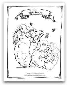 free vegetable garden coloring books printable activity pages for kids - Coloring Book Printables