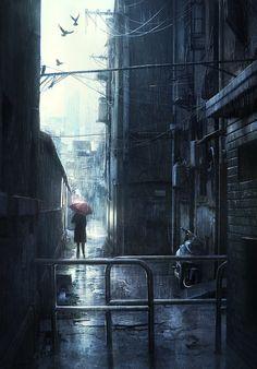 Rain by *JonasDeRo on deviantART