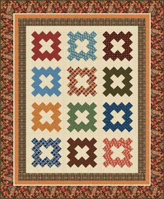 #FreeQuiltingPattern - Charleston 1850 Quilt by Indie Designer New Fabs - click the image to learn more and get the free instant download of the pattern