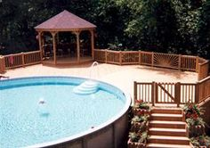 photos of above ground pools with decks   Above Ground Pool with a deck from A-Tex Above Ground Pools, Spas ...