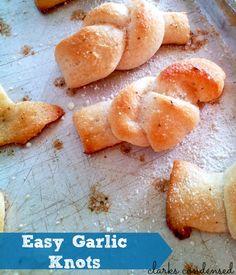 Easy Garlic knots, using @Sue-Ann Metz breadstick dough. So yummy!