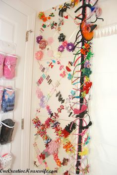 This is how I can repurpose my memo boards!! Yessss!  One Creative Housewife: Organizing My Daughter's Closet