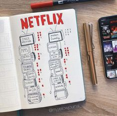 movie bullet journal Turn Up the Volume with 15 TV Show Trackers Bullet Journal Tracker, Bullet Journal Netflix, Bullet Journal Notebook, Bullet Journal Inspo, Bullet Journal Spread, Journal Pages, Bullet Journal Tv Series, Bullet Journal How To Start A, Journals