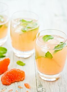 Grapefruit & Mint Cooler - refreshing!