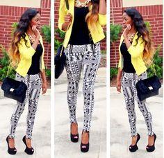 Fashion Style Inspiration #Outfit #pants #blazer
