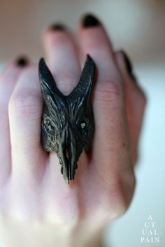 Silver Baphomet Rings by Actual Pain