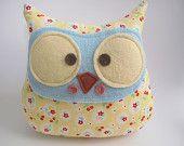 Patchwork owl plush Trixie. $24.00, via Etsy.