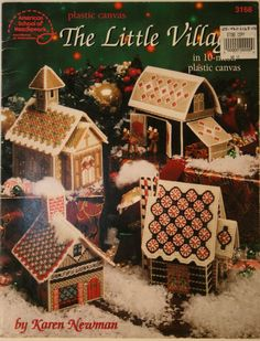 Plastic Canvas Bear Free Patterens | Plastic canvas Christmas village pattern Houses Reindeer barn