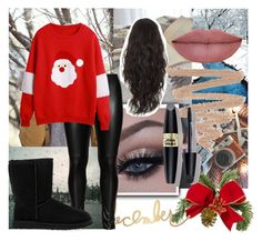"""Christmas"" by geovanna-morgado on Polyvore featuring Studio, UGG Australia, Max Factor and Christmas"