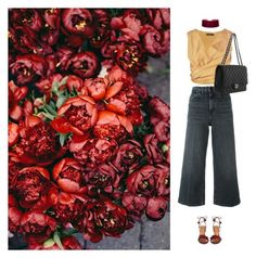 """I just have a thing for flowers..."" by laurenmarron ❤ liked on Polyvore featuring The Row, Alexander Wang, Aquazzura, Chanel and laurenthelabel"