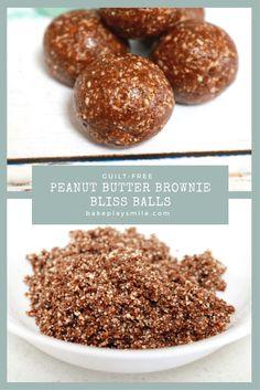 Raw & Guilt-Free Peanut Butter Brownie Bliss Balls